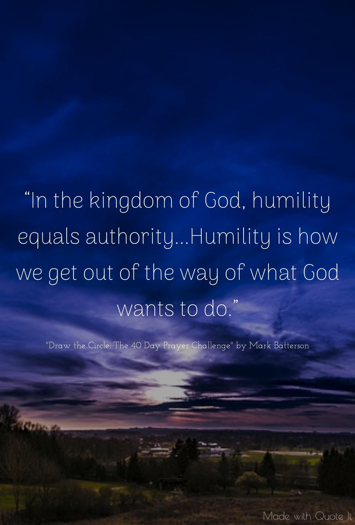 Humility = Authority